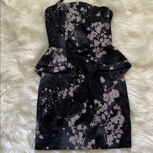 H&M Cherry Blossom Print Side Peplum Dress